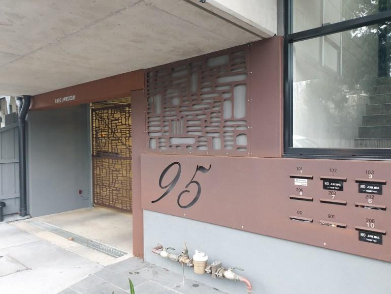 Laser cut external building facade by PLR Design