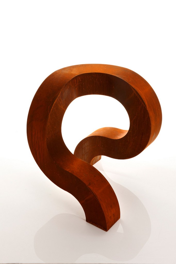Spirit Version 2 Corten steel sculpture in studio by PLR Design