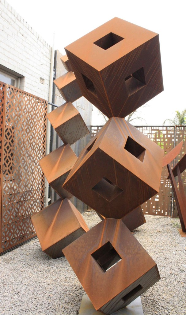 Zenith Corten steel sculpture in studio by PLR Design