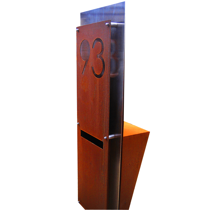 steel fabricated letterbox 93 by PLR Design