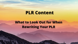 What to Look Out for When Rewriting Your PLR