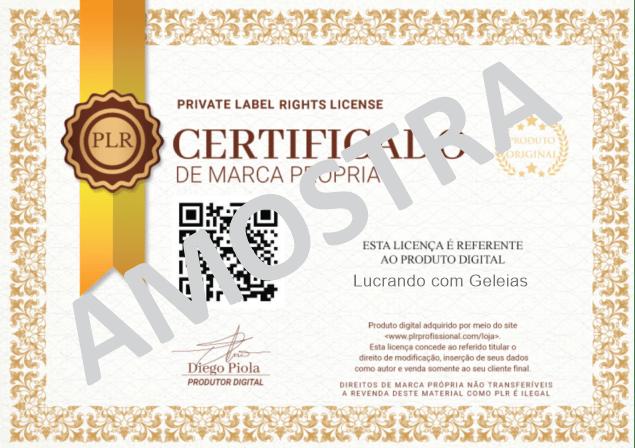 Licença PLR Geleia - Amostra