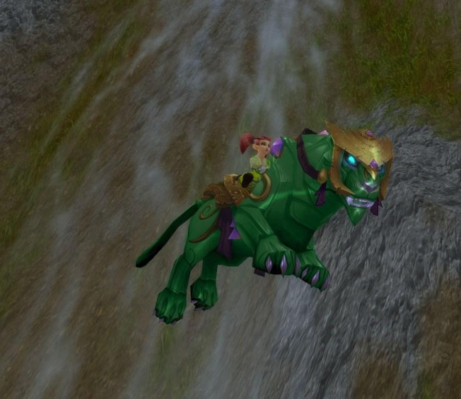 【美服】魔兽世界坐骑:翡翠猎豹Jade Panther@PLS173.com