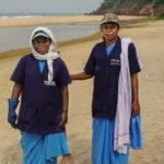 Rubbish collectors on Varkala Beach, Kerala