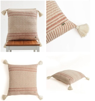Cotton Knitted Decorative Cushion Cover