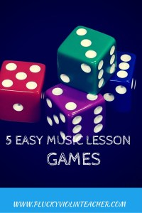 Five easy games you can play in your violin lessons without having to buy or print anything, just use household materials you probably already own.