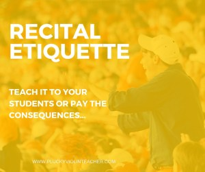 Why teaching proper concert behavior isn't just nice, it's crucial!
