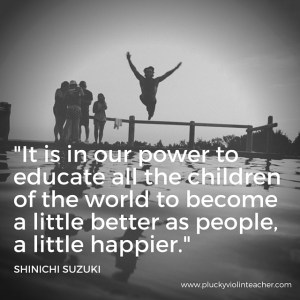 Music teachers, the work we do matters. Music has the power to change the world. Don't give up.