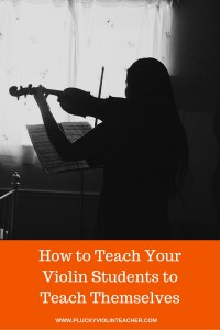 How asking your violin students questions encourages self-evaluation, and improves focus and performance.
