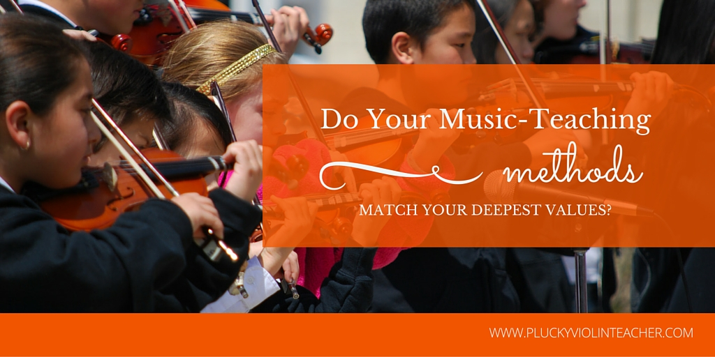 Aligning your music-teaching methods with your core values allows you to become a music teacher with impact (and income.)