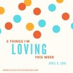 5 Things I'm Loving This Week (My Favorite Violin Teaching Resources) — April 8, 2016
