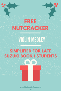 Introduce your child to the world of Tchaikovsky with this free violin arrangement of music from the Nutcracker.