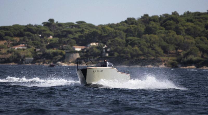 X-Shore e-boat driving across a lake