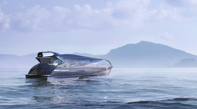 A 78 foot yacht covered in solar panels that