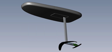 a hydrofoil with electric motor