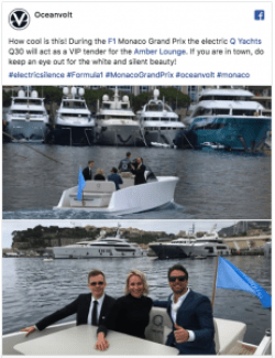 a facebook post - people on a yacht in Monaco Harbour