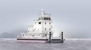 a large pushboat/towboat