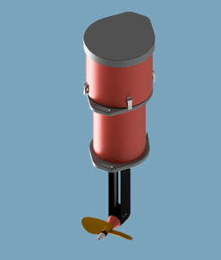 Electric outboard boat motor by Navigaflex