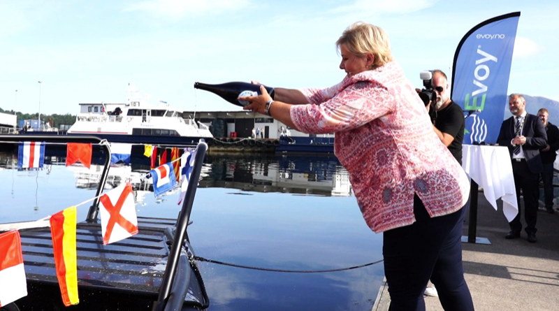 PM of Norway christens Evoy1 electric boat - Plugboats