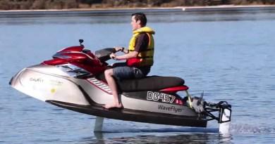 New hydrofoiling electric jetski WaveFlyer