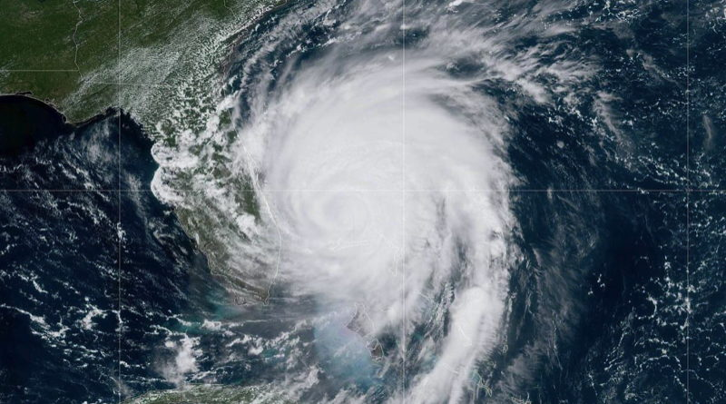 Satellite image of Hurricane Dorian over the Bahamas