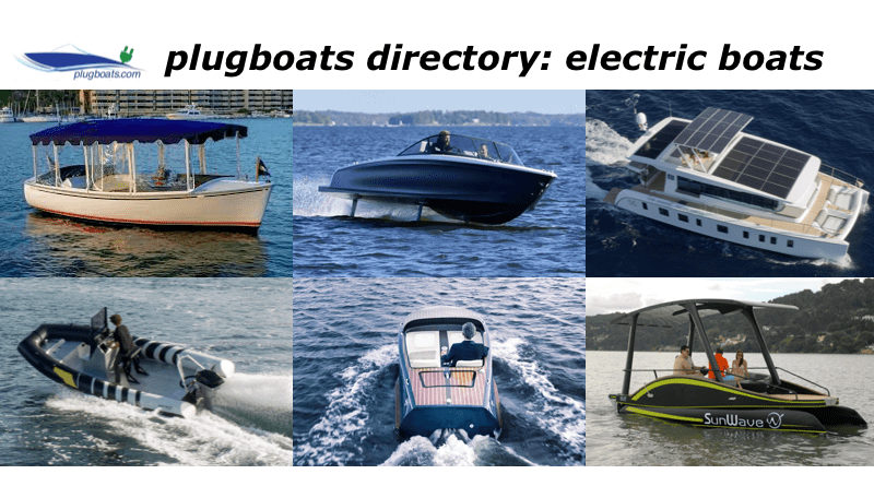 Electric Boats photographs - 6 boats in a collage
