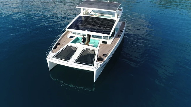 ~Electric boat from ARC Solar Yachts