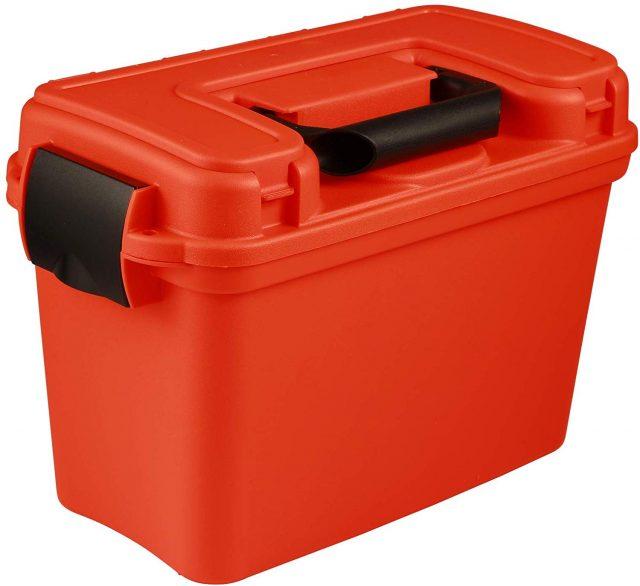 attwood bright orange plastic box