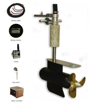 Aquamot steerable pod electric boat motor