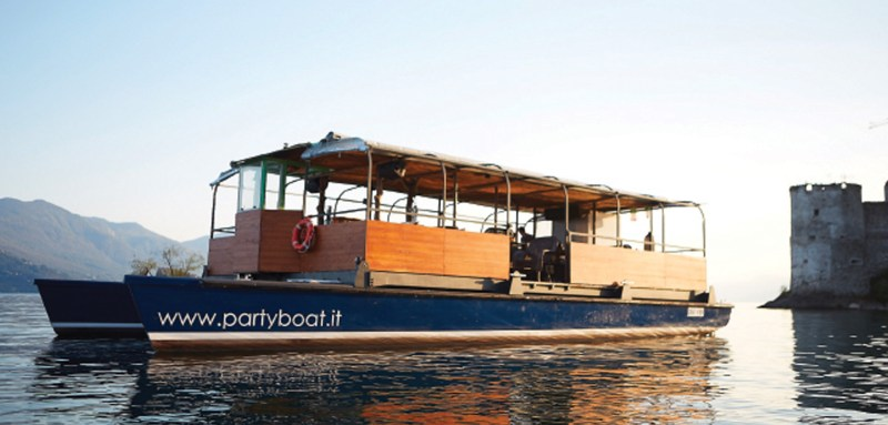 Eco Party Boat electric boat for rent Lake Maggiore Italy