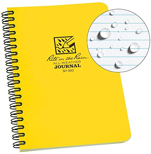 a bright yellow notepad