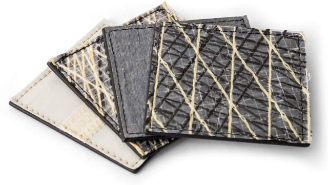 gift for electric boaters - wallets with different designs made from remnants of used sails
