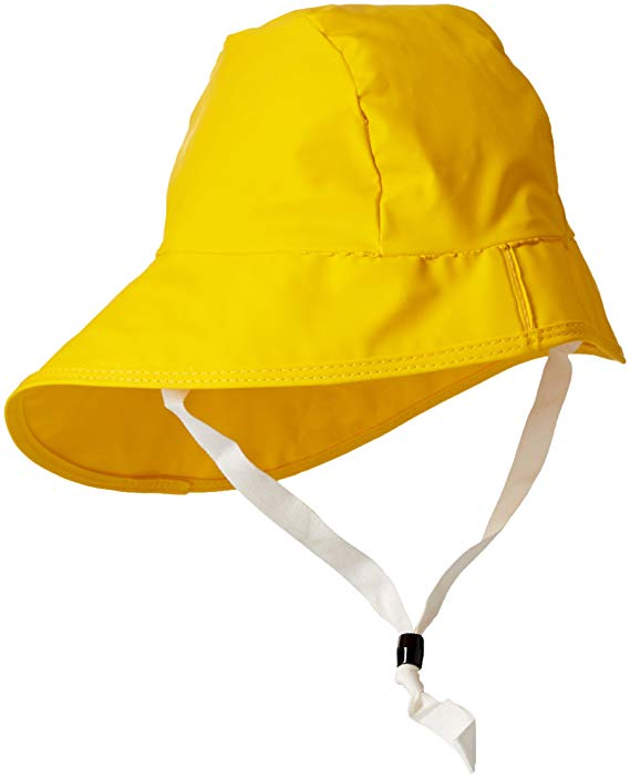 bright yellow sou-wester storm hat for boating