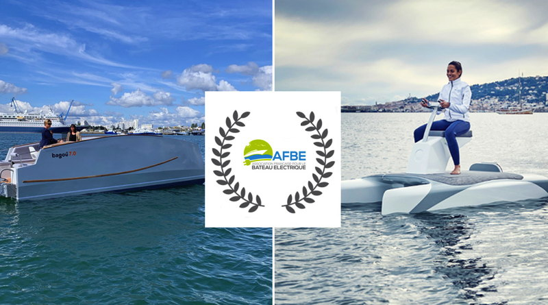 Two winners of France's best electric boats competition: Overboat and Bagou