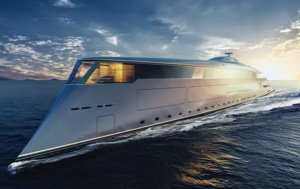 Bill Gates hydrogen yacht - artists conception