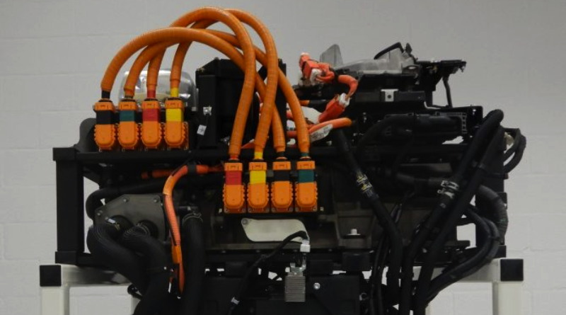 Toyota fuel cells connected to the electric motor of the Energy Observer