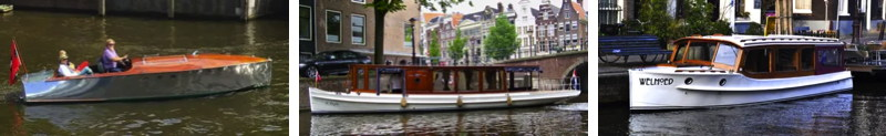 Amsterdam floating battery will serve these three classic canal boats that have been redone with electric motors