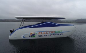 Electricat inflatable solar boat
