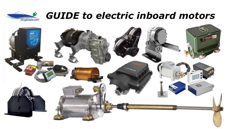 Electric inboard motors collage