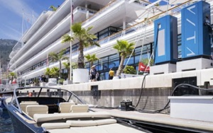 VITA Supercharger on the docks of the Yacht Club de Monaco, host of Monaco Solar and Energy Boat Challegne
