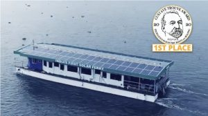 electric boat awards winner Aditya Solar Ferry