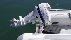 solar sea yacht trial also had this electric outboard and RIB tender