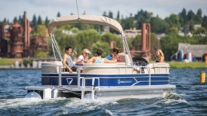 new electric boat packages include this pontoon boat
