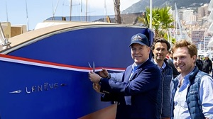 Monaco electric boat by Laneva being christened by Prince Albert II