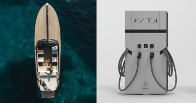 Vita electric boat chargers will be recycled aluminum