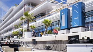 electric boat chargers first installed at the Yacht Club de Monaco