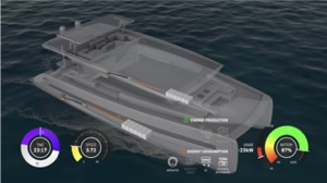 Lithium battery packs are in each hull, as shown in this diagram