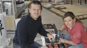 lithium battery packs being put together by Michael and Heiki Kohler in their boathouse in 2008