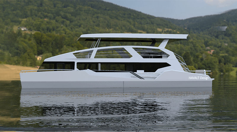 Solar leisure boats include this 50' catamaran