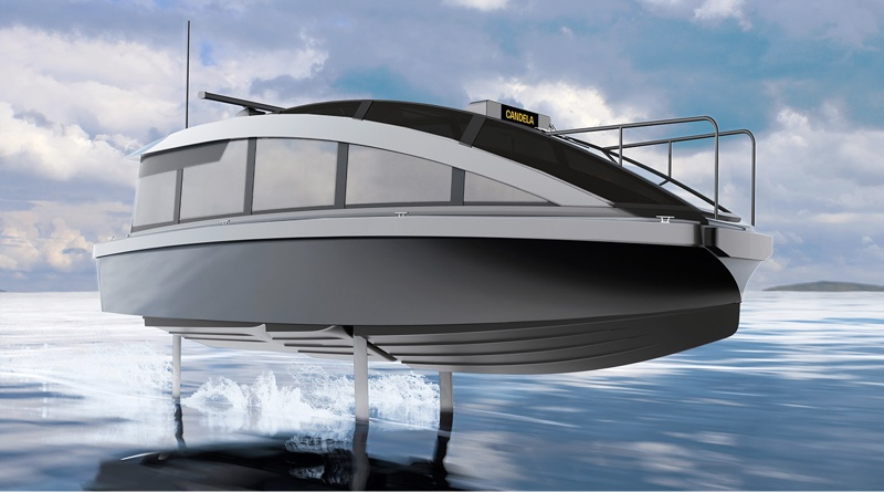 Candela P-12 electric hydrofoiling water taxi - artists impression
